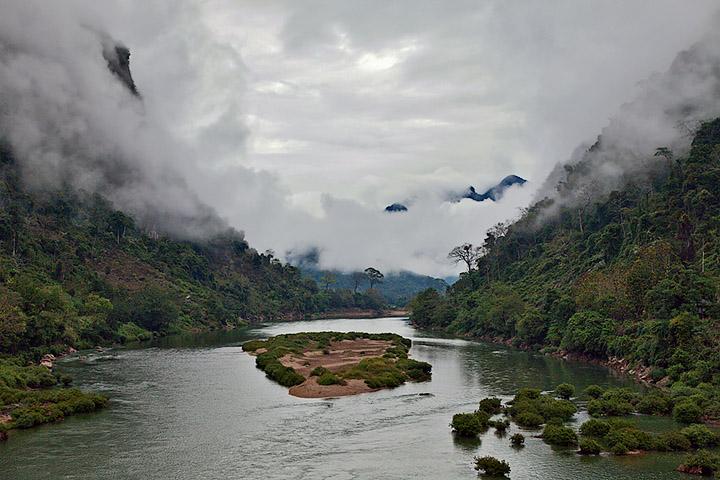 Nam Ou River Scene