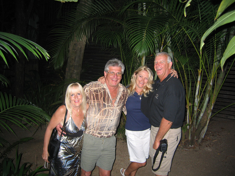 Rene Dave Sandi and Pat on the way to the restaurant