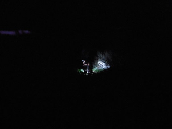 The following pictures are Tims.....This is my flashlight at 4 am.