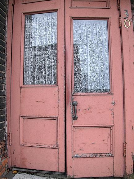 lacey pink door...