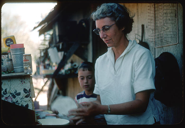Ellen and Marian Thomson at Home on Rio Mulege Mexico 1961