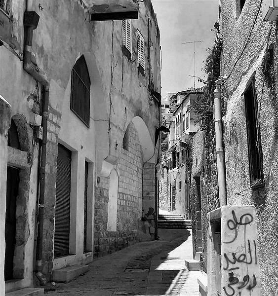 Noon time in a narrow street in the old quarter of Nazareth.JPG
