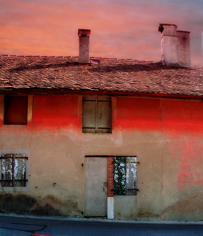 The little house and the sunset...