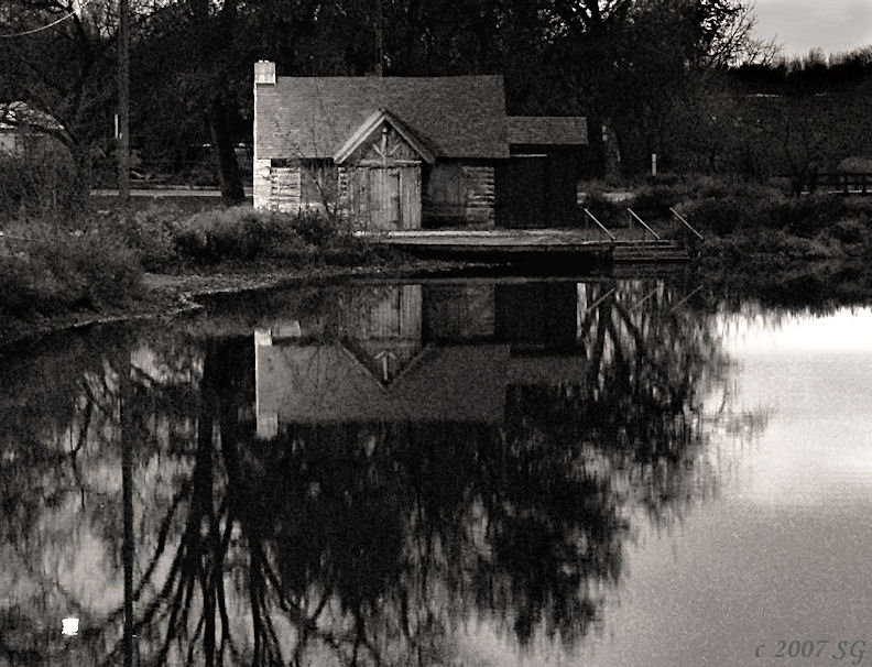 Cabin at Twilight