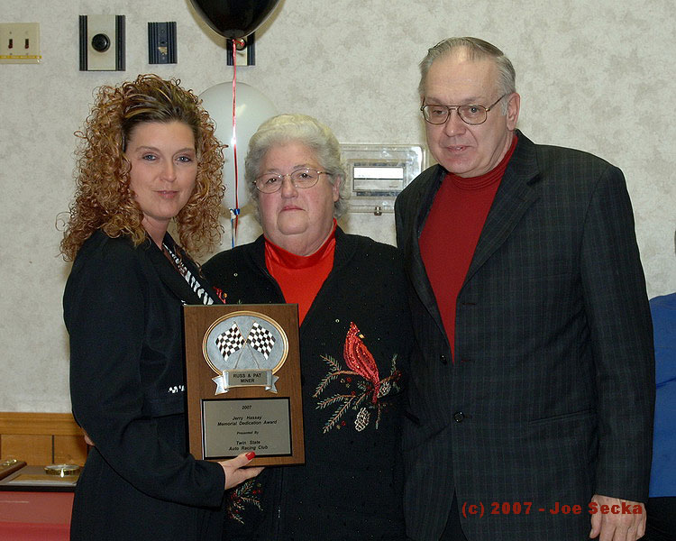 Russ & Pat Miner  Jeff Hassay Memorial Dedication Award