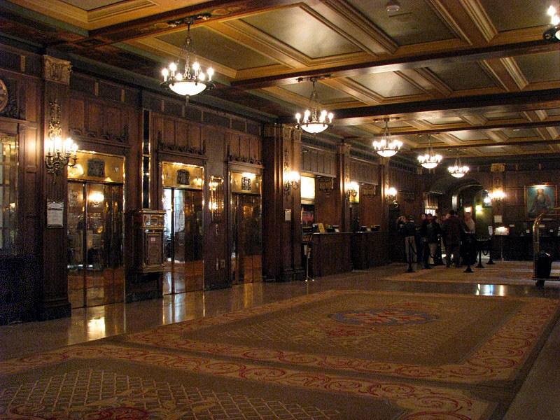 lobby du château Frontenac
