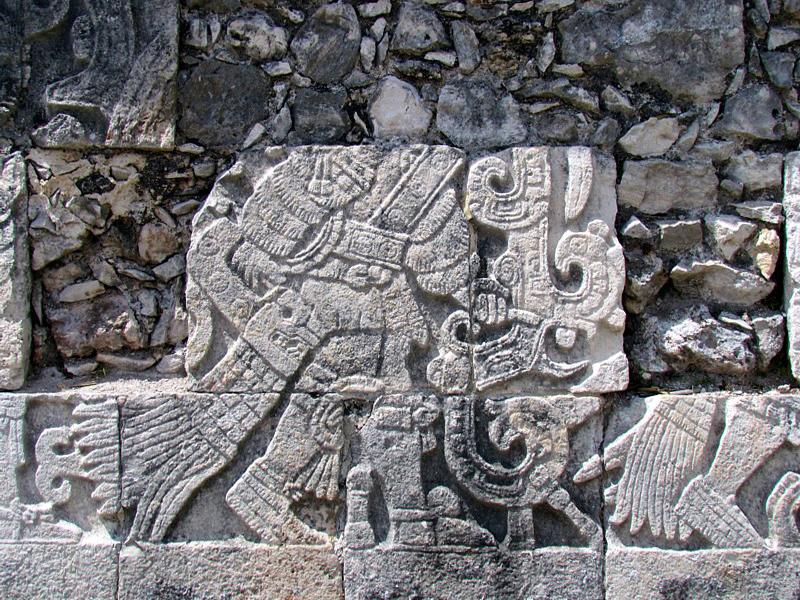 Bas relief,  Chichen Itza