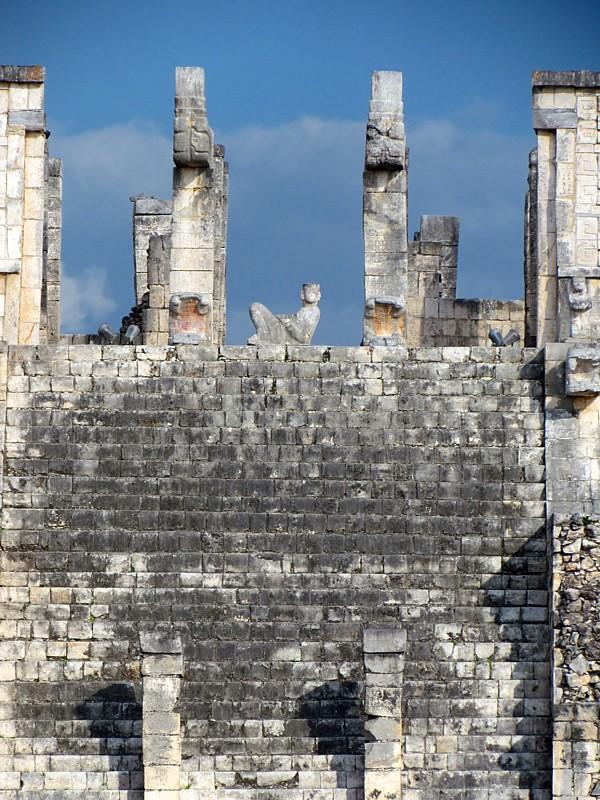 Lescalier du Chackmol, temple des guerriers