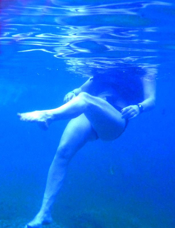 underwater picture, test de la caméra sous-marine