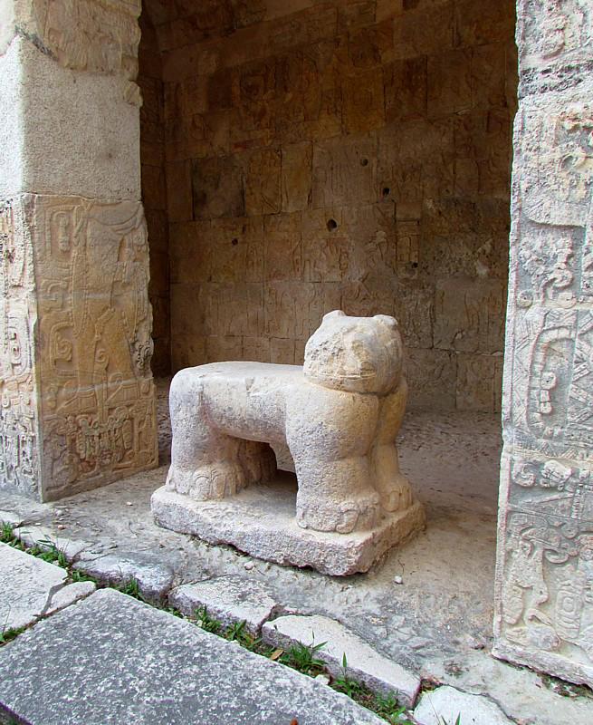 Lautel du jaguar de pierre