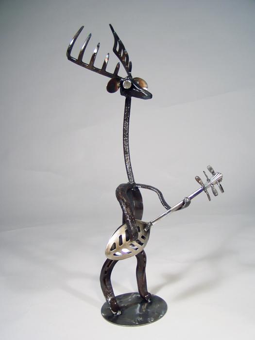 reindeer on guitar