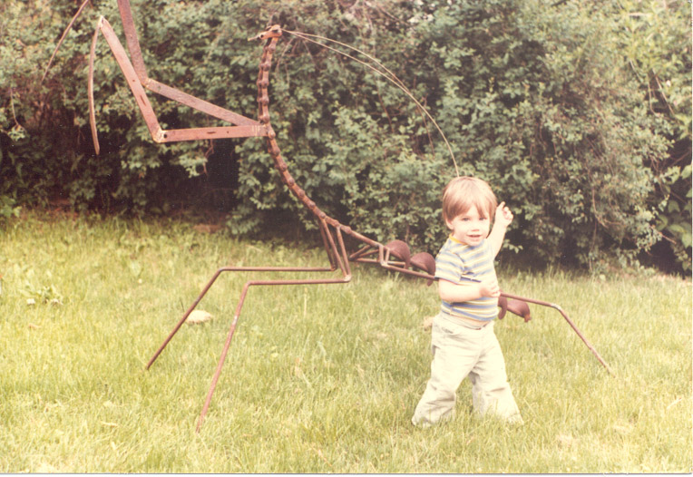mark, age 2 , with friend