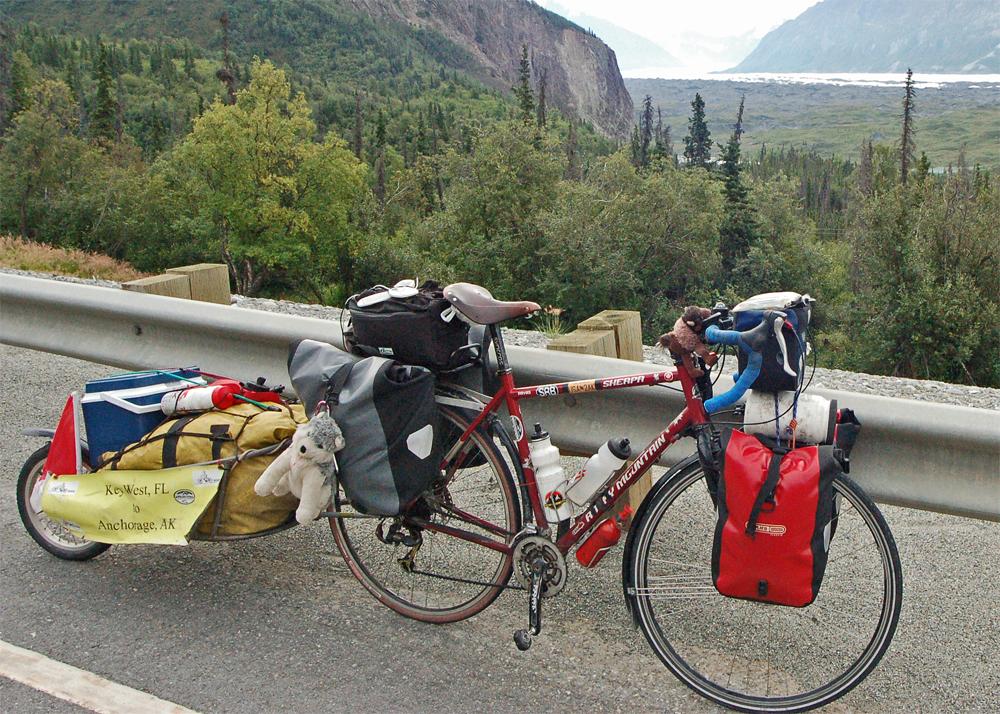 224  Jin - Touring Alaska - Rocky Mountain Bicycles Sherpa touring bike