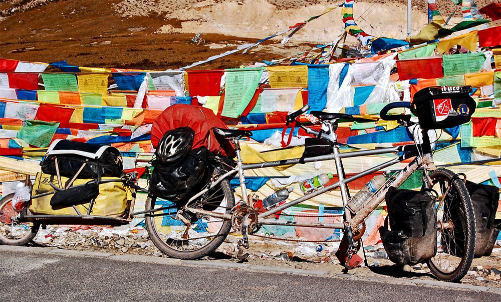 238  Dams & Delfe - Touring Tibet - KHS Tandemania Alite touring bike