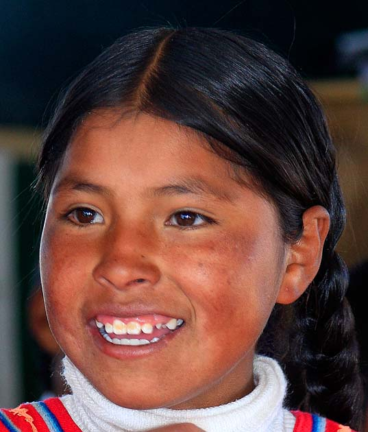 A resident of Uros