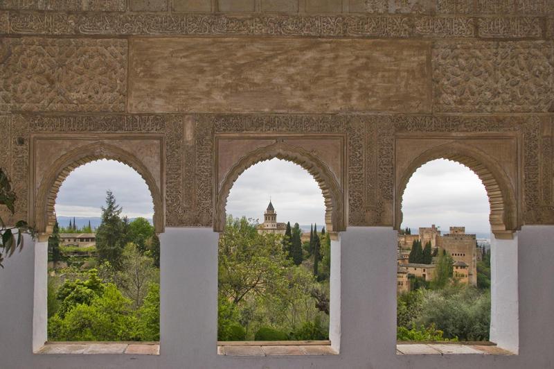 Patio de la Acequia, Alhambra, Granada