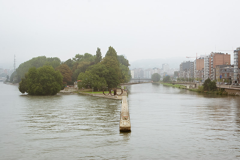 View from Pont Fragnée