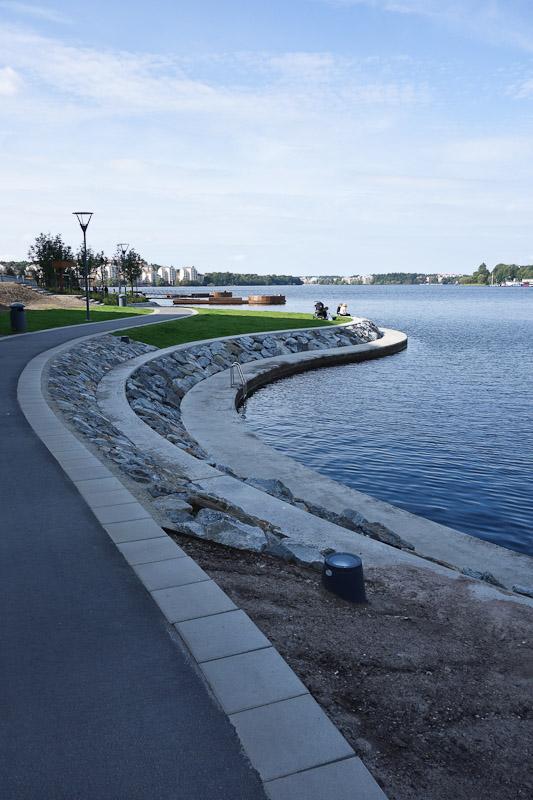 The shoreline of Kungsholmen