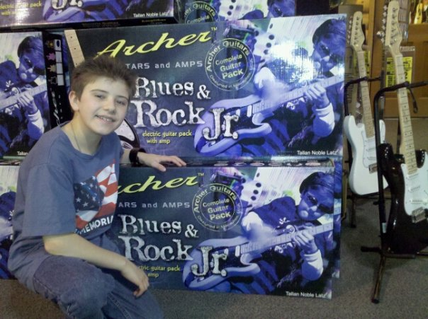 TALLAN NOBLE LATZ AND HIS SIGNATURE GUITAR PACKAGE