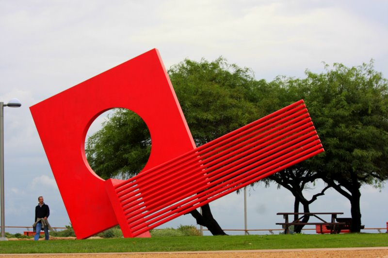 New Sculpture in Ben Gurion Park, North Tel Aviv