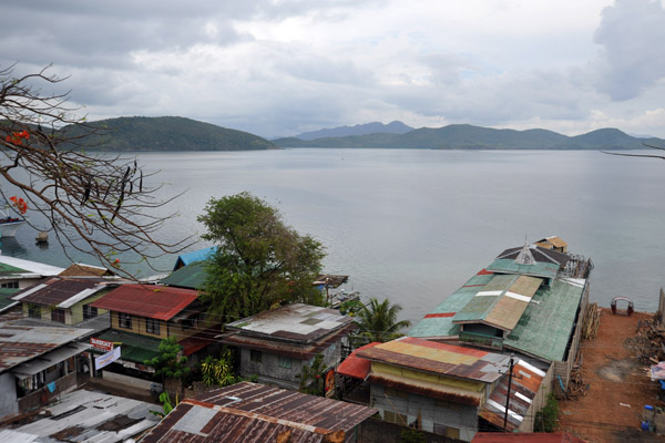 One of the many piers protruding from Culion Town