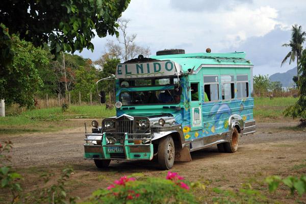 El NIdo Resorts jeepney at El Nido Airport