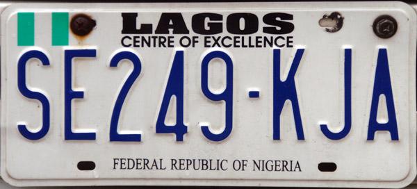 Federal Republic of Nigeria license plate, Lagos State