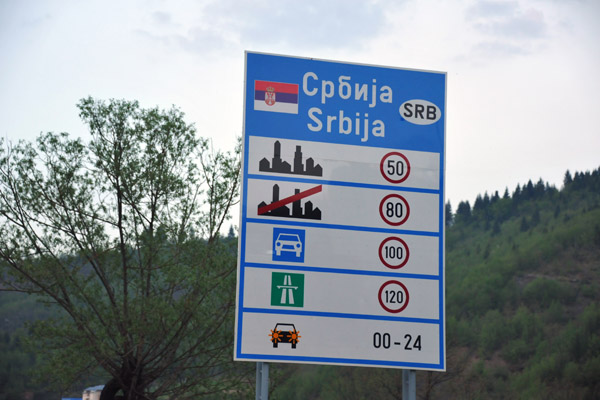 Speed limits for Serbia