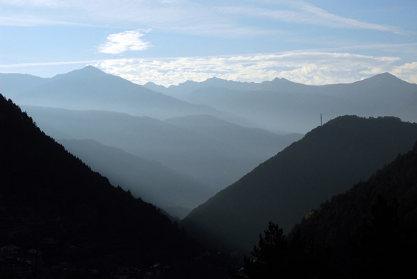 Early morning looking east, Valle dArinsal, Andorra