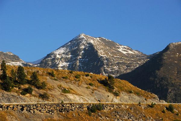 Road to Comallempla ski base above Arinsal with Pic del Pla de lEstany (2850m)