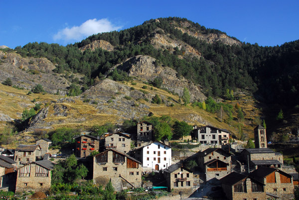 View of the picturesque mountain village of Pal, Andorra