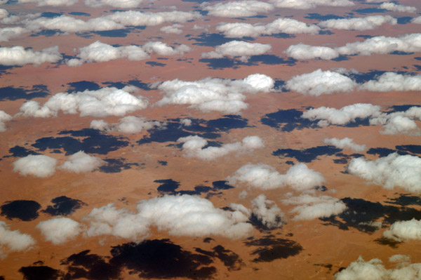 Clouds over the Sahara, In Amenas, Algeria-Libya border region (N27 50/E009 31)