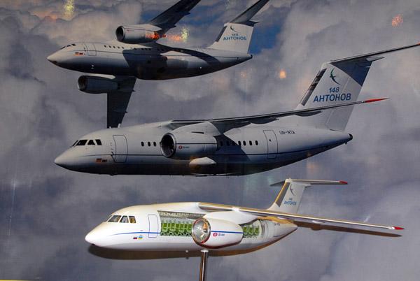 Antonov 148 model, Dubai Airshow 2007