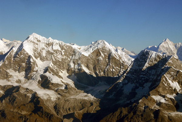 Himalaya west of Everest - Numbur (6957m/21,719ft) Khatang (6582m) and Karyolung (6511m/21,362ft)
