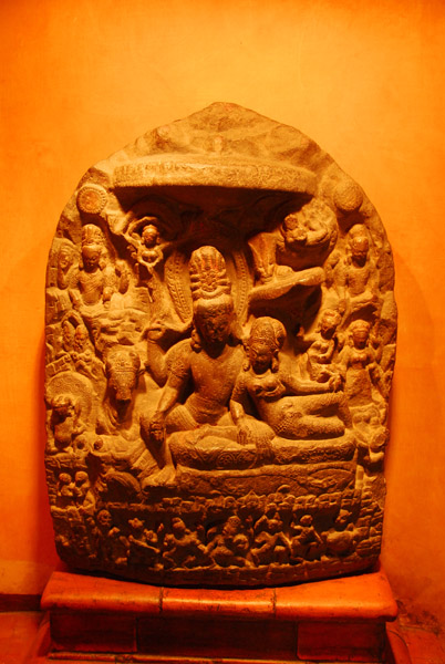 Uma-Mahesvara, 12th C. Nepal, recovered in 2000 after being stolen from a shirine in 1982