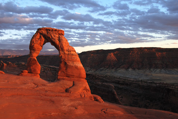Obligatory shot of Delicate Arch at sunset