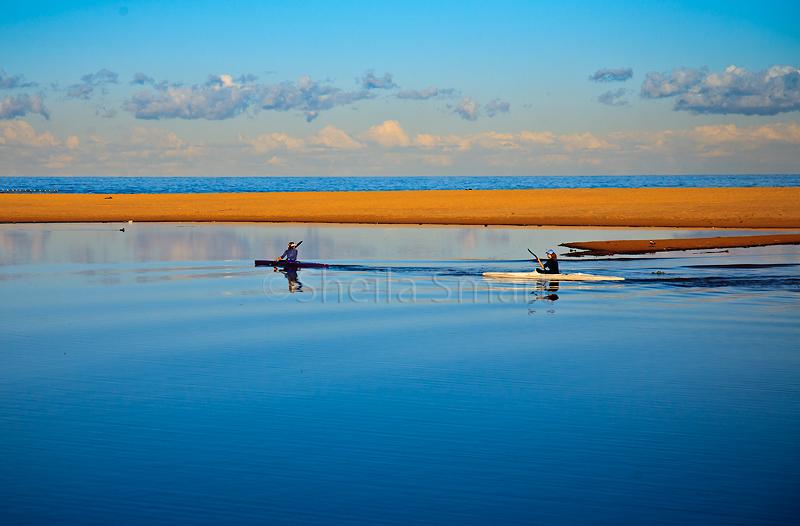 Kayakers on Narrabeen Lagoon