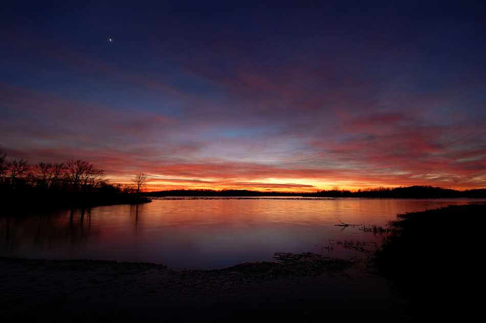 Venus over Pony Express Lake
