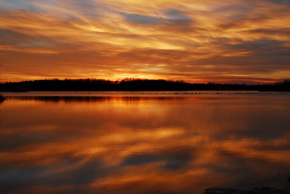 Sunset at Pony Express Lake
