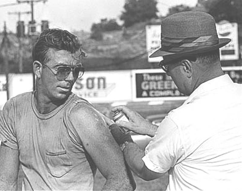 Red Farmer after crash.