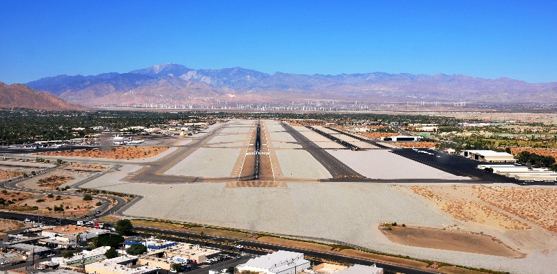 Palm Spring and wind farms  (KPSP)