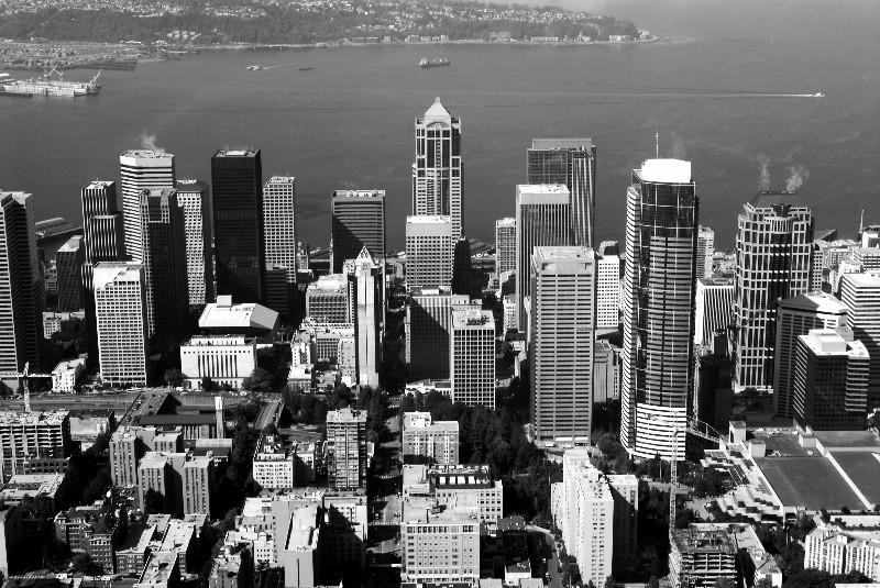black-white Seattle