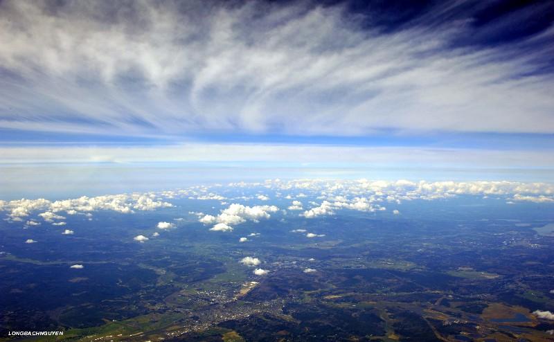 high cirrus clouds over Chehalis,WA