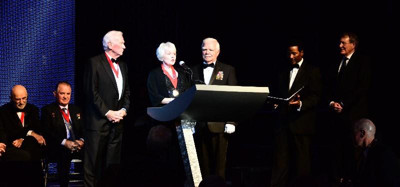 Martha Chaffee donates Deke Slaytons Astronaut Pins