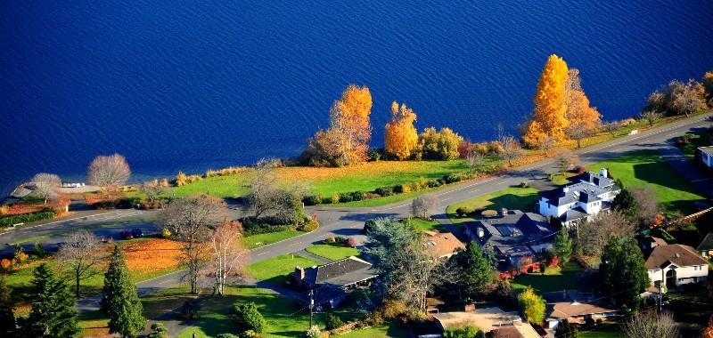 Lake Washington Blvd S park, Lake Washington, Seattle