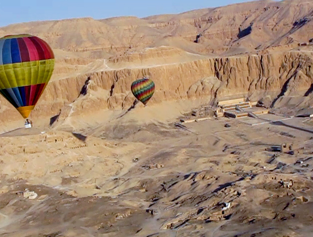 VIDEO BELOW:  Balloons over Luxor/Thebes, Egypt