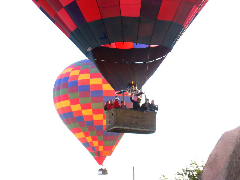 Our pilot is landing the balloon well ride.