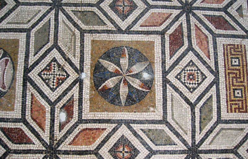 A floor mosaic thats pure design rather than mythology subjects
