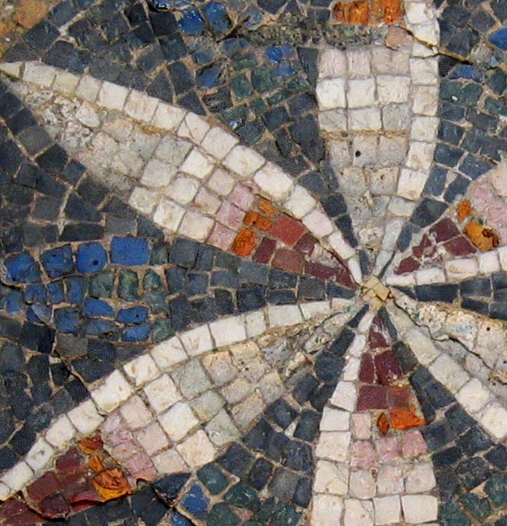 Detail from a photo taken closer to the mosaic.  Beautiful colored pebbles.