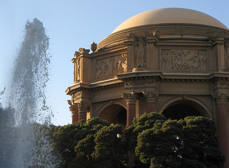 Fountain and rotunda, by Maybeck, closer up